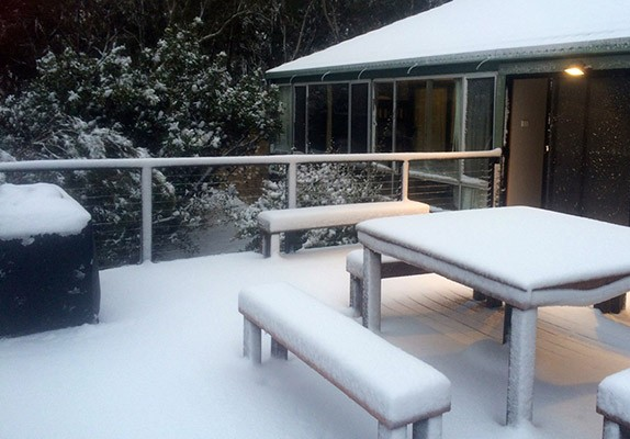 Blue Mountains Holiday House Snow